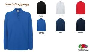 Premium Long Sleeve Polo Unisex - farbig