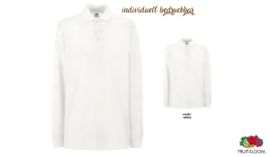 Premium Long Sleeve Polo Unisex - weiß