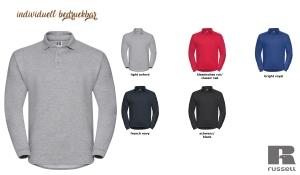 Workwear Sweatshirt mit Polo Kragen