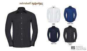 Tailliertes Oxford Hemd Men - Langarm