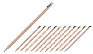 Bleistift natur mit Radierer