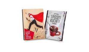 Geschenkartikel / Präsentartikel: Tassenkuchen 70g, Pause für große Bürohelden