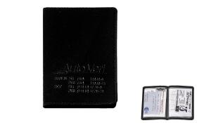 Ausweistasche Paper Label 2G schwarz
