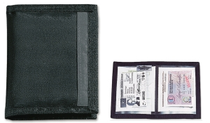 Ausweistasche Nylon2 schwarz/schwarz