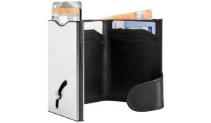 Kartensafe IWalletdeLuxePro silber/schwarz