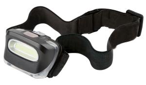 LED MegaBeam Kopflampe TopCOB schwarz
