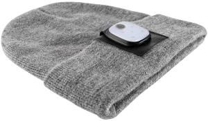 Mütze Beanie&MobileLightConnect grau/schwarz