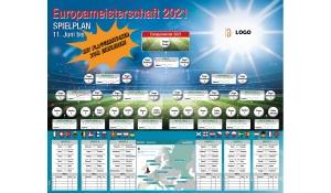 EM-Wandplaner 2021 mit Sticker