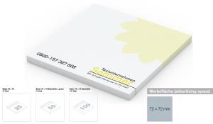 Haftnotizblock Basic 72 x 72 mm Bestseller