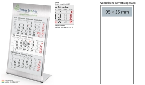 2022 Desktop Calendar.3 Month Calendar 2022 Desktop 3 Steel 1 Year 3 Month Planner With Logo Printed Deprismedia Com