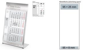 4-Monatskalender 2022 Desktop 4 Steel 2-Jahre