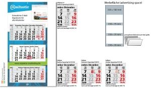 3-Monatskalender 2022 Maxi Light 3 inklusive Werbeeindruck