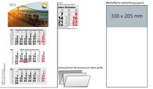 3-Monatskalender 2022 Medium Light 3 inklusive Werbeeindruck