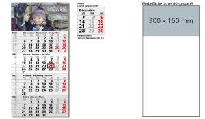 4-Monatskalender 2022 Mega 4 A inklusive Werbeeindruck