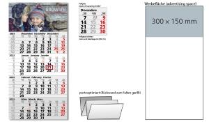 4-Monatskalender 2022 Mega 4 Post A inklusive Werbeeindruck