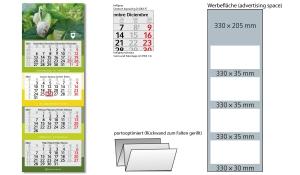 4-Monatskalender 2022 Profil 4 inklusive Werbeeindruck