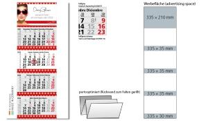 4-Monatskalender 2022 Quadro 4 Post inklusive Werbeeindruck