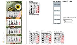 4-Monatskalender 2022 Quadro Light 4 inklusive Werbeeindruck