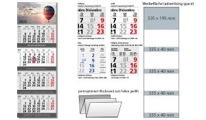 4-Monatskalender 2022 Quadro Wire-O 4