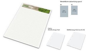 Schreibblock Recycling 25 Blatt