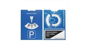Karton-Parkscheibe mit Benzinrechner