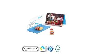 Werbekarte Visitenkartenformat Weihnachtsmann