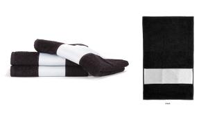 Frottiertuch Print - kleines Tuch (schwarz)