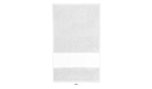 Frottiertuch Print - kleines Tuch (weiß)