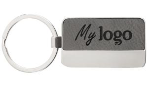 Schlüsselanhänger LaserKey grau