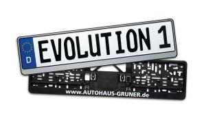 Kennzeichenhalter Evolution 1