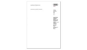 Briefbogen AUDI Partner