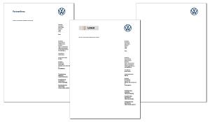Briefbogen VW Partner