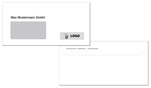 Briefumschläge DIN lang (1-farbig schwarz)
