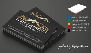 Visitenkarte CMYK mit Farbkern