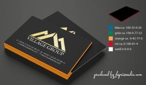 Visitenkarte schwarz mit Farbkern
