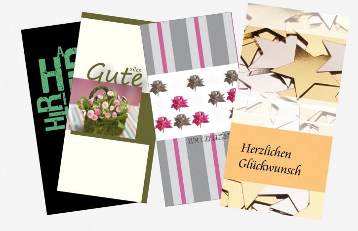 Entwurf für Gutscheine und Glückwunschkarten
