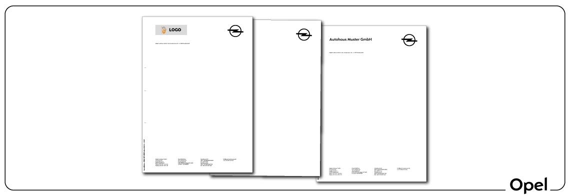 Briefbogen Opel