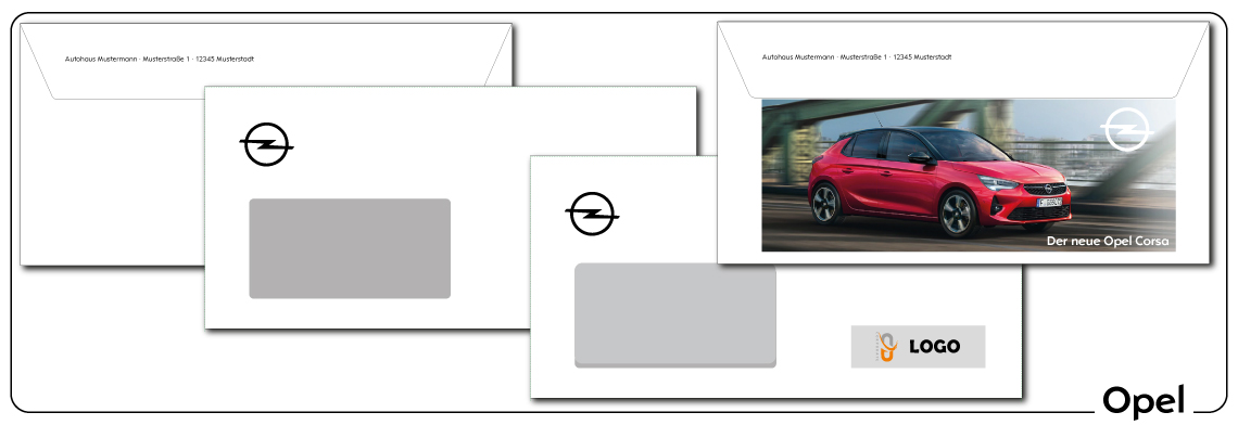 Briefumschläge Opel