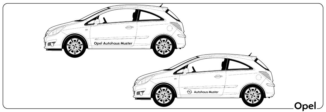 Fahrzeugbeschriftung Opel