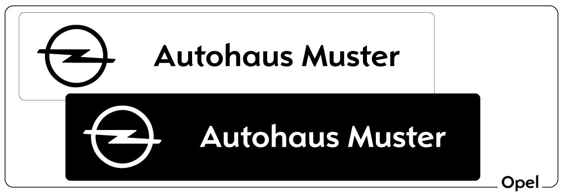 Kennzeicheneinleger Opel