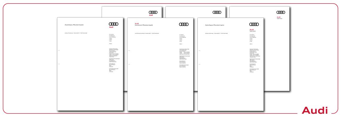 Briefbogen Audi
