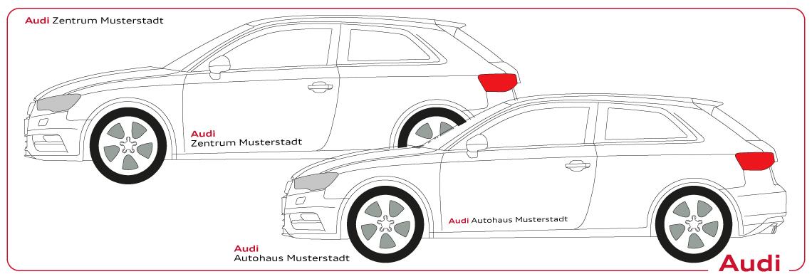 Fahrzeugbeschriftung Audi