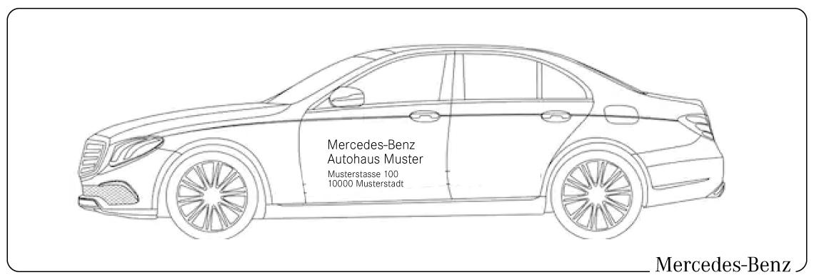 Fahrzeugbeschriftung Mercedes