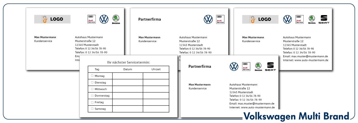 Visitenkarten VW Multi Brand